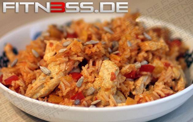 Puten-Paprika-Reispfanne