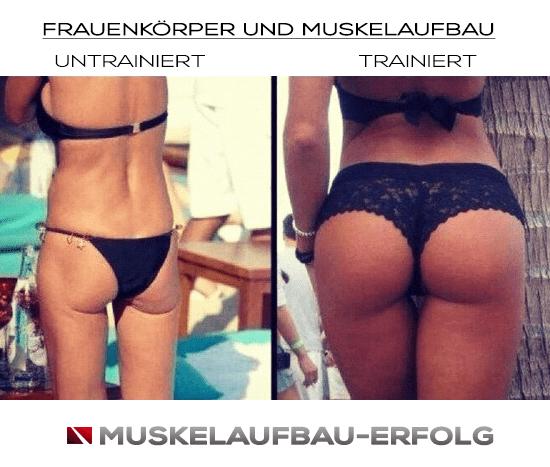 Frauenkörper und Muskelaufbau