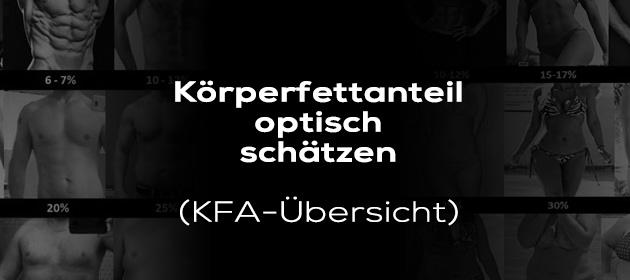 Körperfettanteil optisch schätzen (KFA-Übersicht)